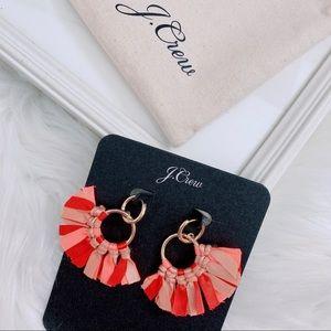 J.Crew Conga Fan Fabric Earring